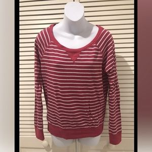 Abercrombie & Fitch Long Sleeve Striped Top